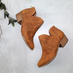 Vince Camuto Tan Prasata Suede Ankle Booties